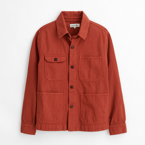 Alex Mill Garment Dyed Work Jacket in Red Clay
