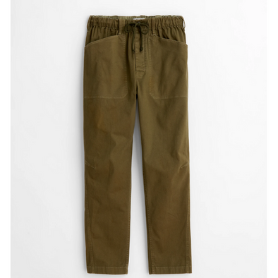 Alex Mill Pull-On Button Fly Pant in Olive