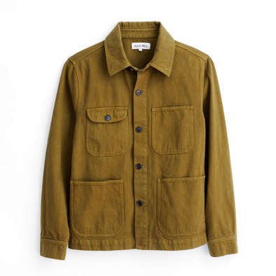 Alex Mill Garment Dyed Work Jacket in Golden Olive