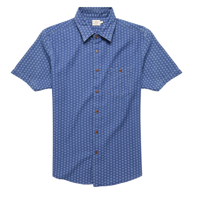 Faherty SS Playa Shirt in Indigo