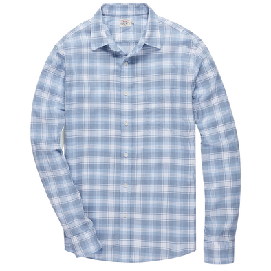 Faherty Movement Shirt in Marina Plaid