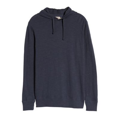 Faherty Slub Hoodie in Blue Nights