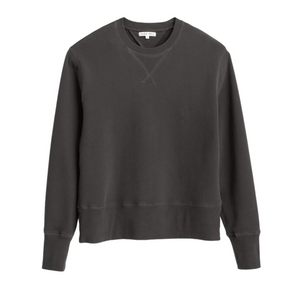 Alex Mill Garment Dyed Sweatshirt in Washed Black