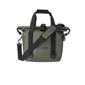 Filson Dry Roll-Top Tote Bag in Green