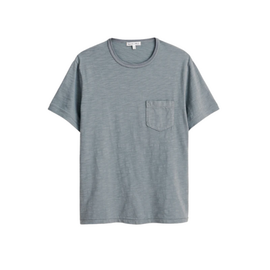 Alex Mill Slub Cotton T-Shirt in Green Slate
