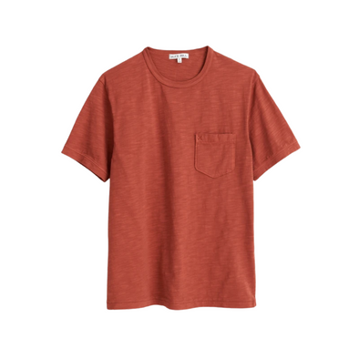 Alex Mill Slub Cotton T-Shirt in Red Clay