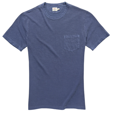 Faherty Sunwashed Pocket Tee in Navy