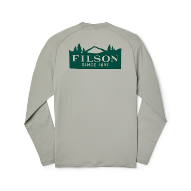 Filson Long Sleeve Barrier Tee in Flint Gray