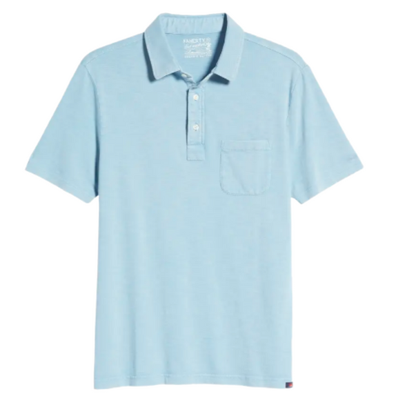 Faherty Sunwashed Polo in Dusk Blue