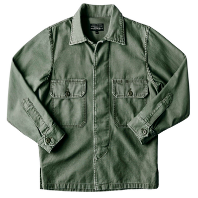 Imogene + Willie Military Shirt Jacket in Fatigue Green