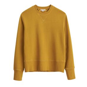 Alex Mill Garment Dyed Sweatshirt in Yellow Ochre