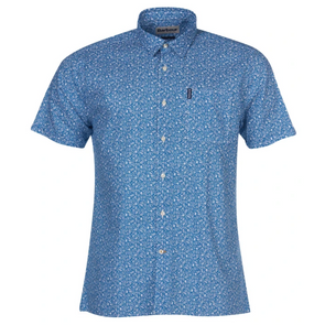 Barbour Summer Floral Print SS Shirt in Blue