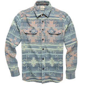 Faherty Canyon Overshirt in Pacific Morning Star
