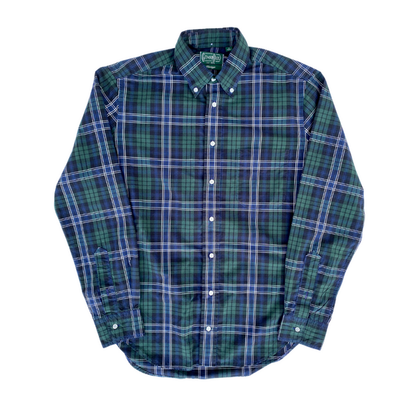 Gitman Vintage Beefy Poplin Check in Navy