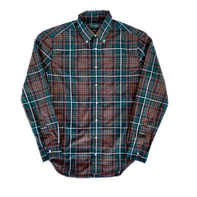 Gitman Vintage Beefy Poplin Check in Green
