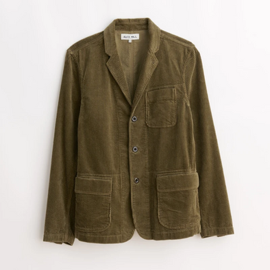Alex Mill Rugged Corduroy Blazer in Olive