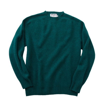 Journeyman Co. x Harley of Scotland Sweater in Forest Sheen