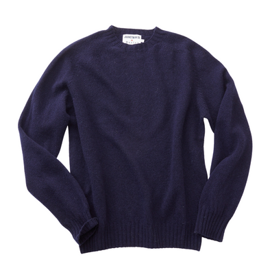Journeyman Co. x Harley of Scotland Sweater in Navy