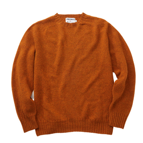 Journeyman Co. x Harley of Scotland Sweater in Vintage Orange