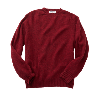Journeyman Co. x Harley of Scotland Sweater in Red Hot
