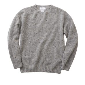 Journeyman Co. x Harley of Scotland Merino Sweater in Greese