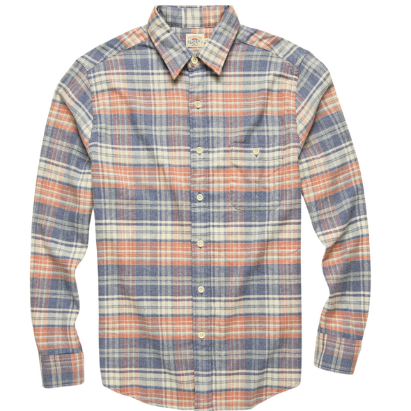 Faherty Seaview Flannel Shirt in Autumn Plaid
