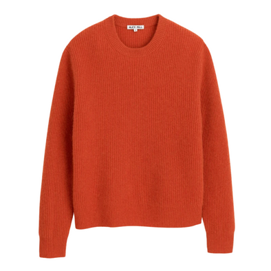 Alex Mill Washed Cashmere Sweater in Paprika