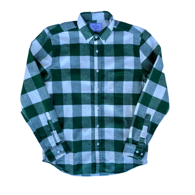 Portuguese Flannel Shirt in Green Buffalo