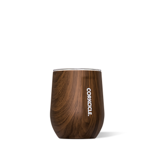 Corkcicle Walnut Wood 12oz. Stemless Wine Cup