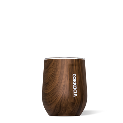 Corkcicle Walnut Wood 12oz. Stemless Wine Cup - JOURNEYMAN CO.