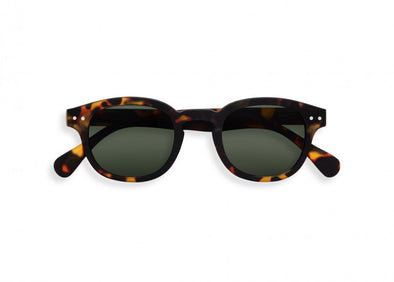 Izipizi C Frame Sunglasses in Tortoise Green Lenses