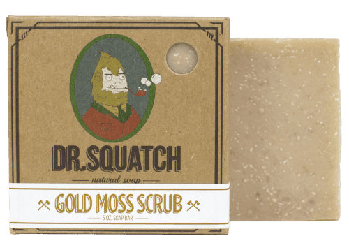 Dr. Squatch Handmade Soap Gold Moss Scrub - JOURNEYMAN CO.