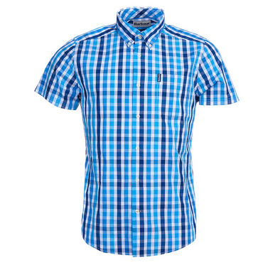 Gingham Check SS Shirt - Blue - JOURNEYMAN CO.