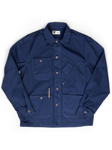 Coverall Jacket Garment Dyed  Blue - JOURNEYMAN CO.