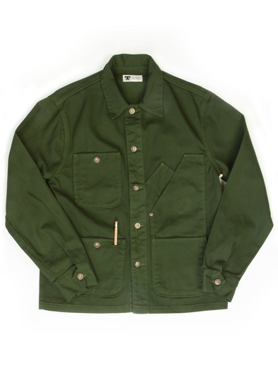 Coverall Jacket Garment Dyed  Green - JOURNEYMAN CO.