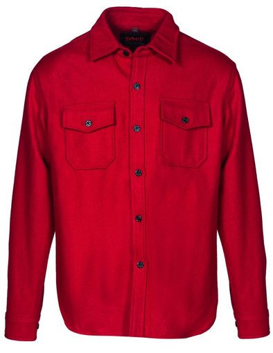 CPO Wool Shirt Jacket in Red