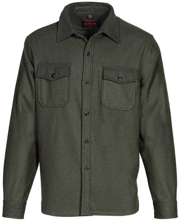 CPO Wool Shirt Jacket in Olive