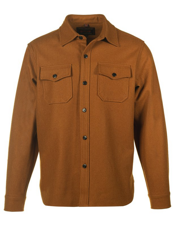 CPO Wool Shirt Jacket in Coyote