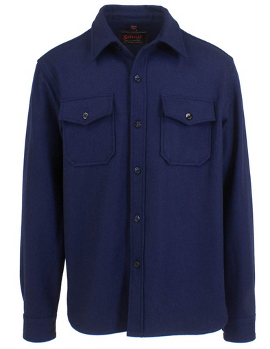 CPO Wool Shirt Jacket in Blue