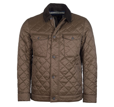 Barbour Maesbury Quilted Jacket in Darkest Olive
