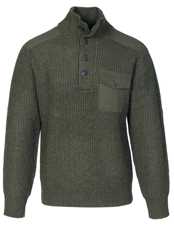 Schott N.Y.C. Military Sweater in Olive