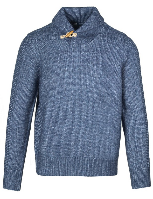Schott N.Y.C. Shawl Collar Toggle Sweater in Navy
