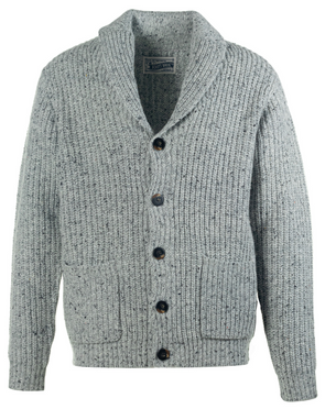 Schott N.Y.C. Wool Blend Cardigan in Heather Grey