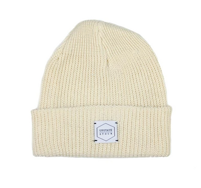 Upstate Stock Eco-Cotton Watchcap in Ecru