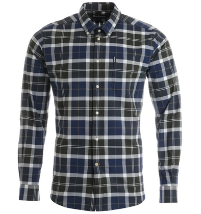Barbour Tartan 11 Shirt in Sage