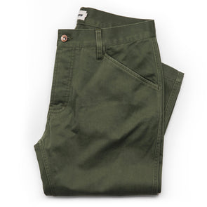Camp Pant - Olive Reverse Sateen - JOURNEYMAN CO.