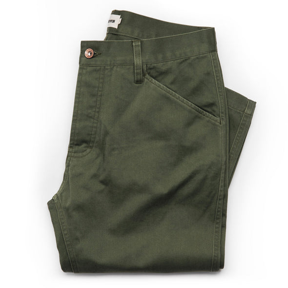 Camp Pant - Olive Reverse Sateen