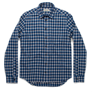 Brushed Mid-Weight Flannel Blue Plaid