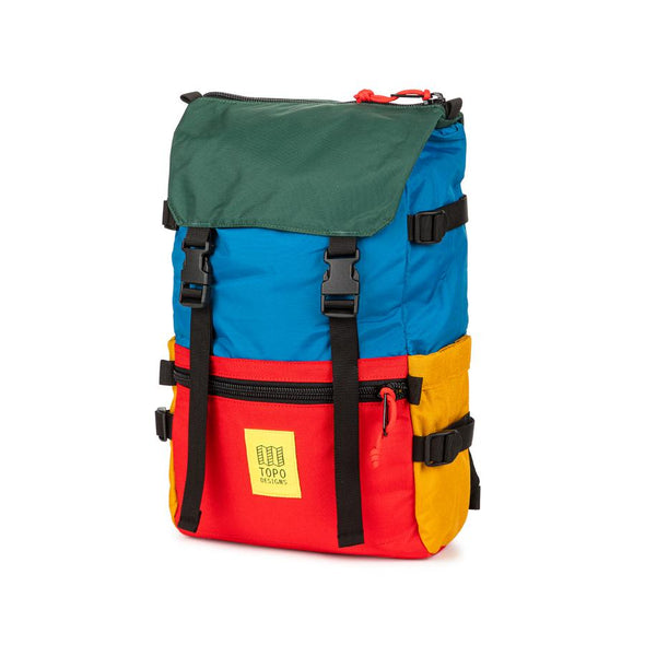 Topo Designs Rover Pack in Blue/Red/Forest