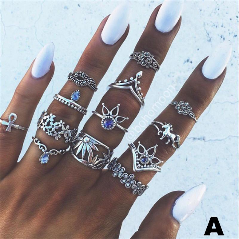 Vintage Knuckle Rings 7 PC's Sets